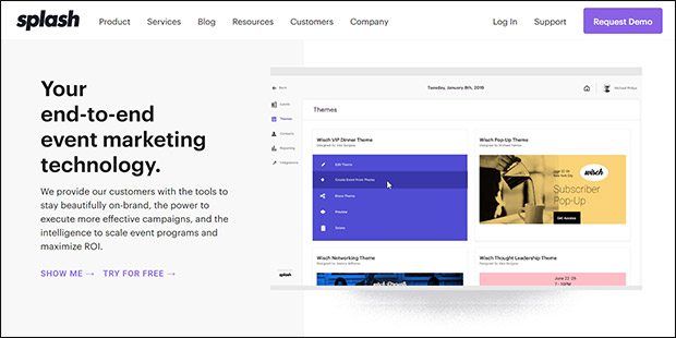 Splash is a Linvio Events alternative that can help your organization with its event marketing.